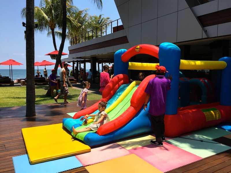 Bouncy castle at Ku De Ta